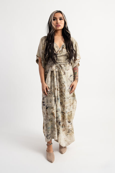 Custom Antheia Silk Wrap Dress & Duster