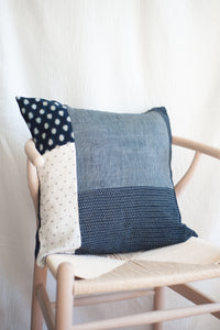 Patchwork Indigo Pillow Case / 2