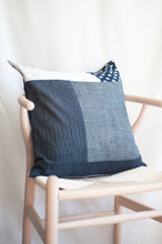 Load image into Gallery viewer, Patchwork Indigo Pillow Case / 2