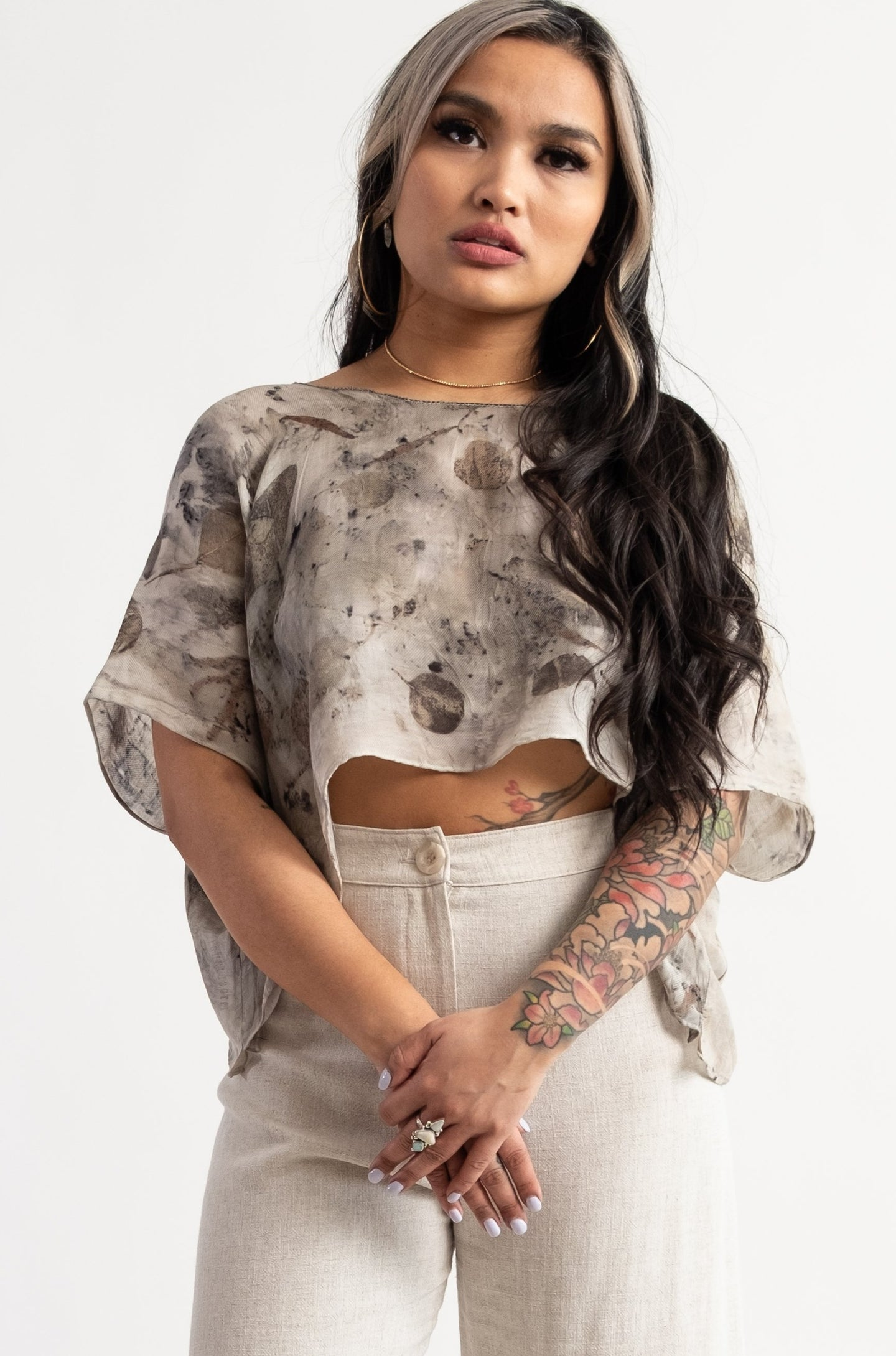 Eco Printed Crop Top