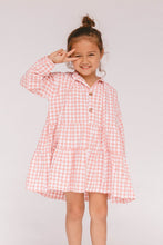 Load image into Gallery viewer, Mini Avalon Smock Dress / candy gingham