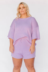 Alex Knit Shorts / periwinkle