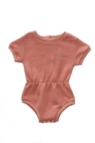 Terry Romper / punch pink