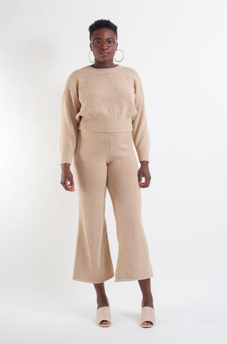 Whitewash Knit Pant
