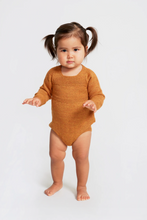 Load image into Gallery viewer, Knit Romper / ochre