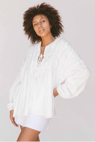 Penny Smock Blouse / white