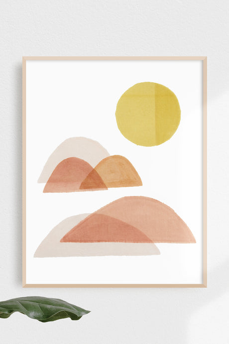 Sunrise / natural gouache art print