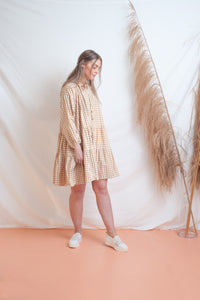 Avalon Smock Dress / caramel