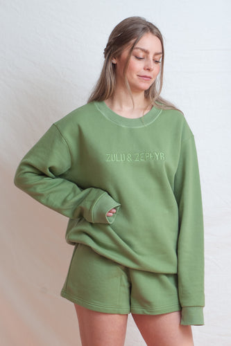 Signature Jumper / tallow green