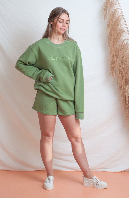 Classic Fleece Short / tallow green