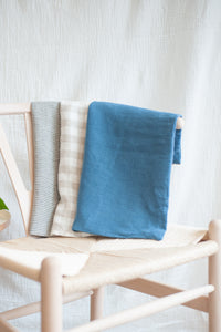 Linen Pillow Case / steel blue
