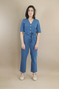 summer denim jumpsuit