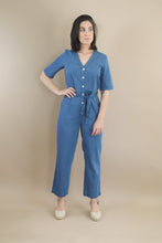 Load image into Gallery viewer, denim jumpsuit with belt