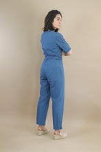 Load image into Gallery viewer, long denim jumpsuit with belt