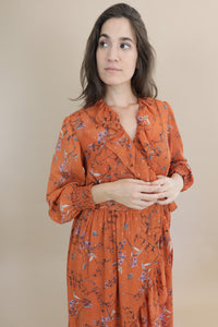 Misti Wrap Dress - Hazelnut Summer
