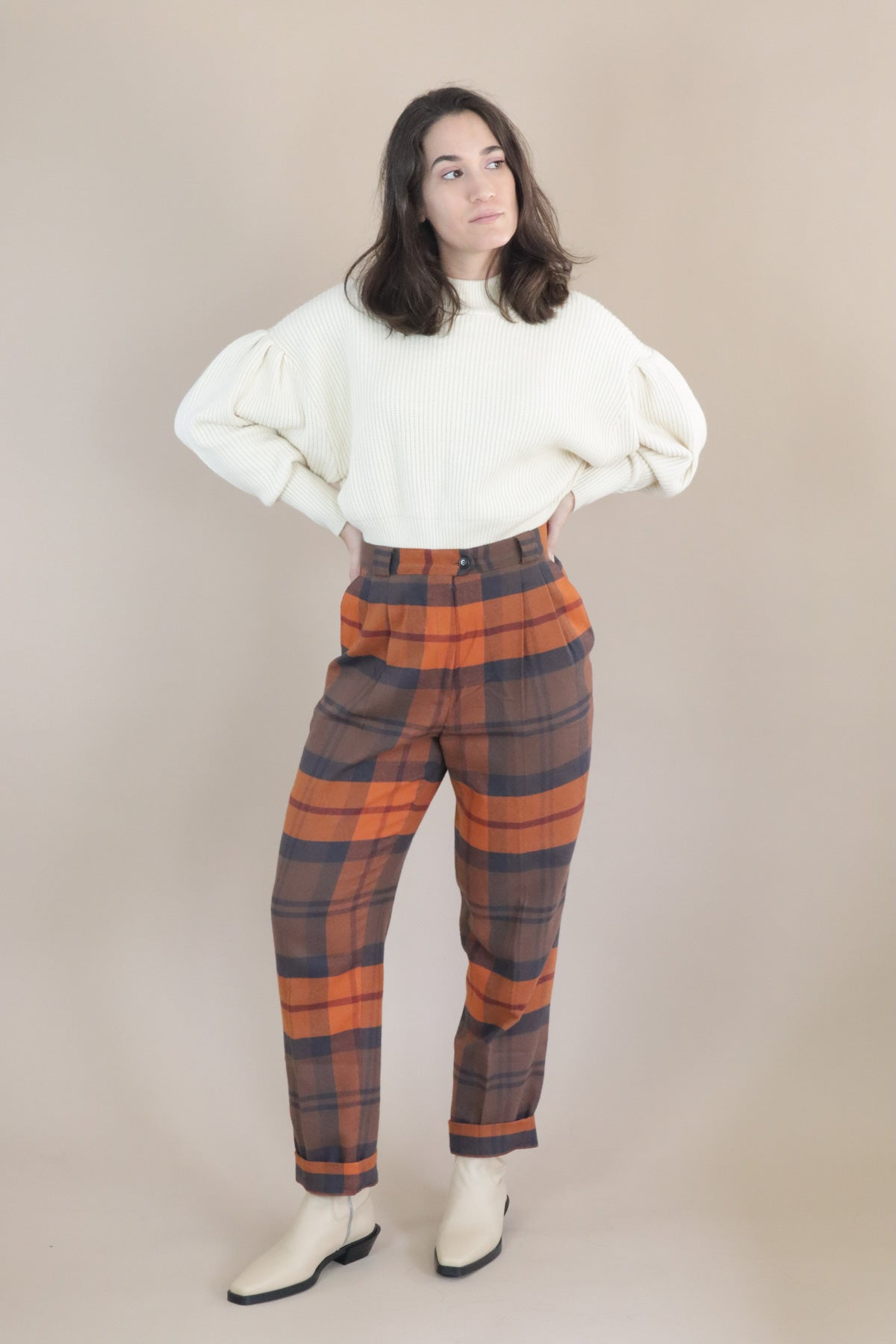 Guri Trousers - Checkered