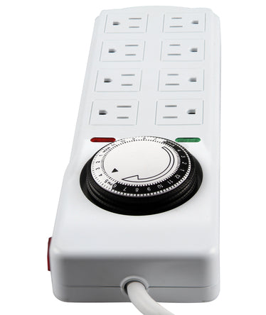 8 OUTLET POWER STRIP WITH TIMER