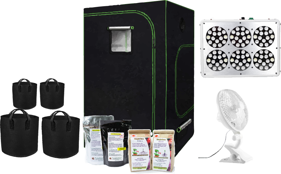 Apollo L.E.D Grow Kit 2X2X4 & Kootenay Bio Soils