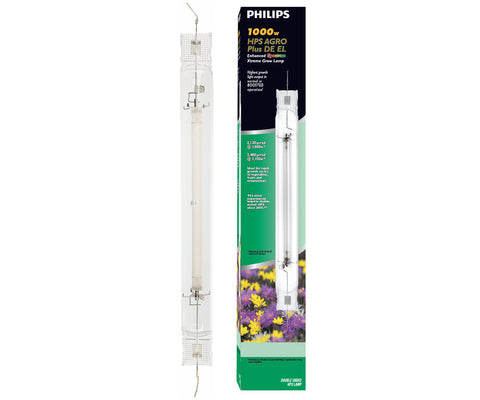 Philips AGRO Plus Double-Ended High Pressure Sodium (HPS) Lamp, 1000W