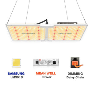 New Spider farmer SF2000 LED Grow Light With Dimmer Knob Full Spectrum Samsung diodes