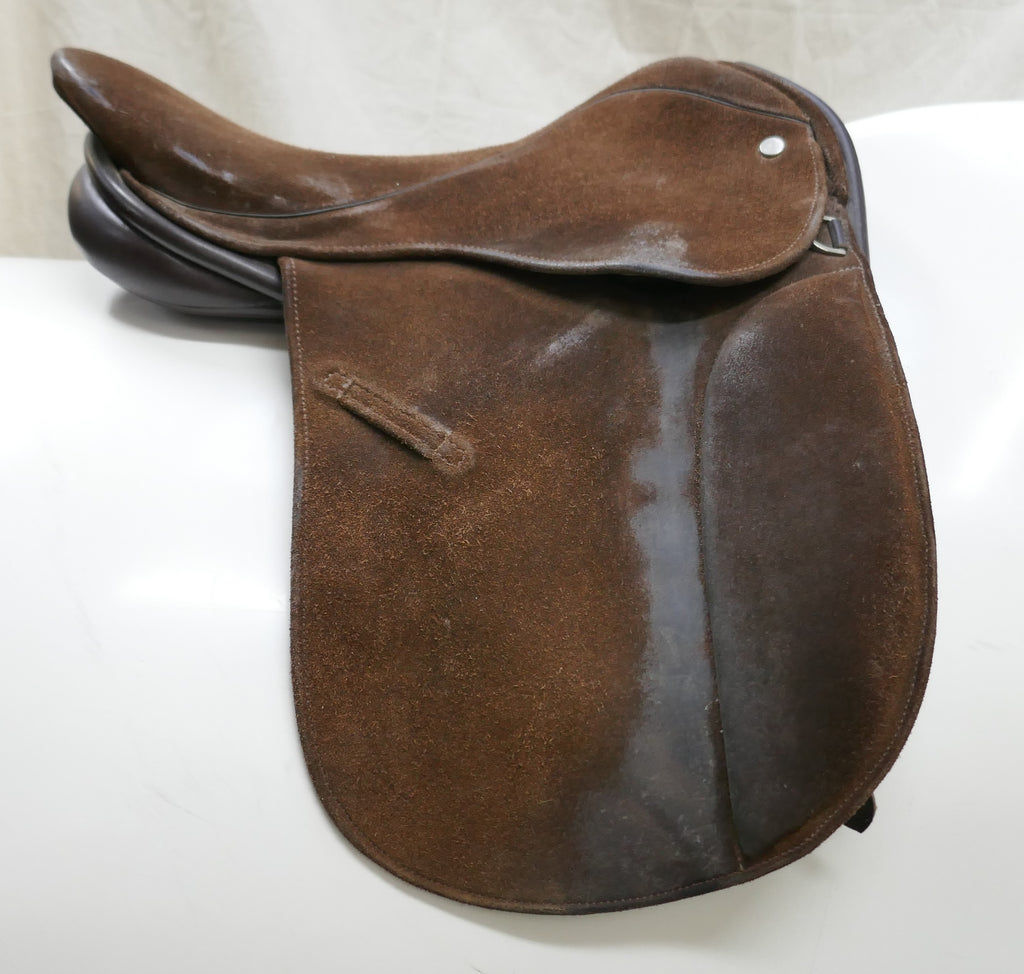 Second Hand Suede Covered Show Saddle