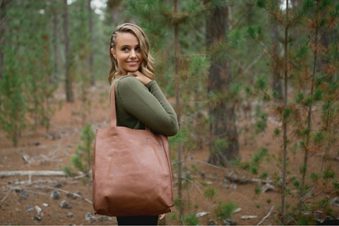 Henk Berg Catie vegetable tanned leather bag