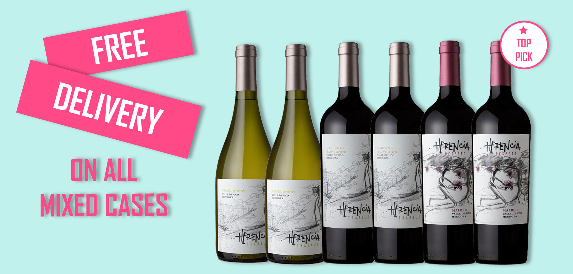 Free Delivery on All Mixed Wine Cases