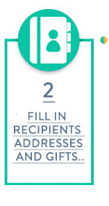 Fill in recipients addresses and gifts