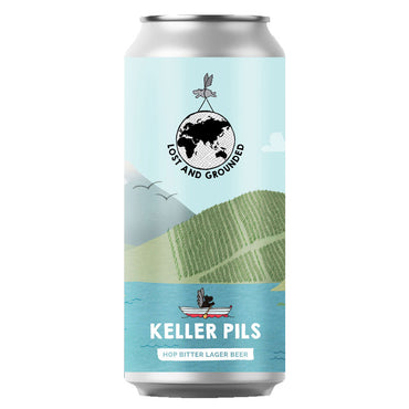 Craft Beer, Lost & Grounded Keller Pils Hop Bitter Lager Beer 440ml Can