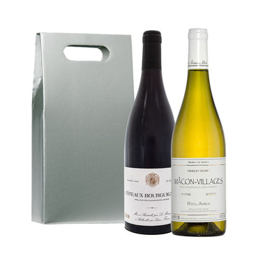 Classic French Duo - Red and White Wine Gift Set