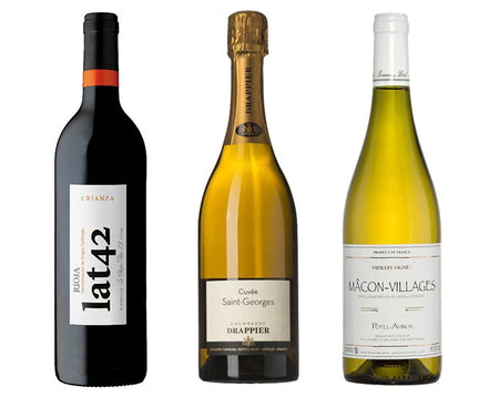 French Champagne, Chardonnay and Spanish Red Wine