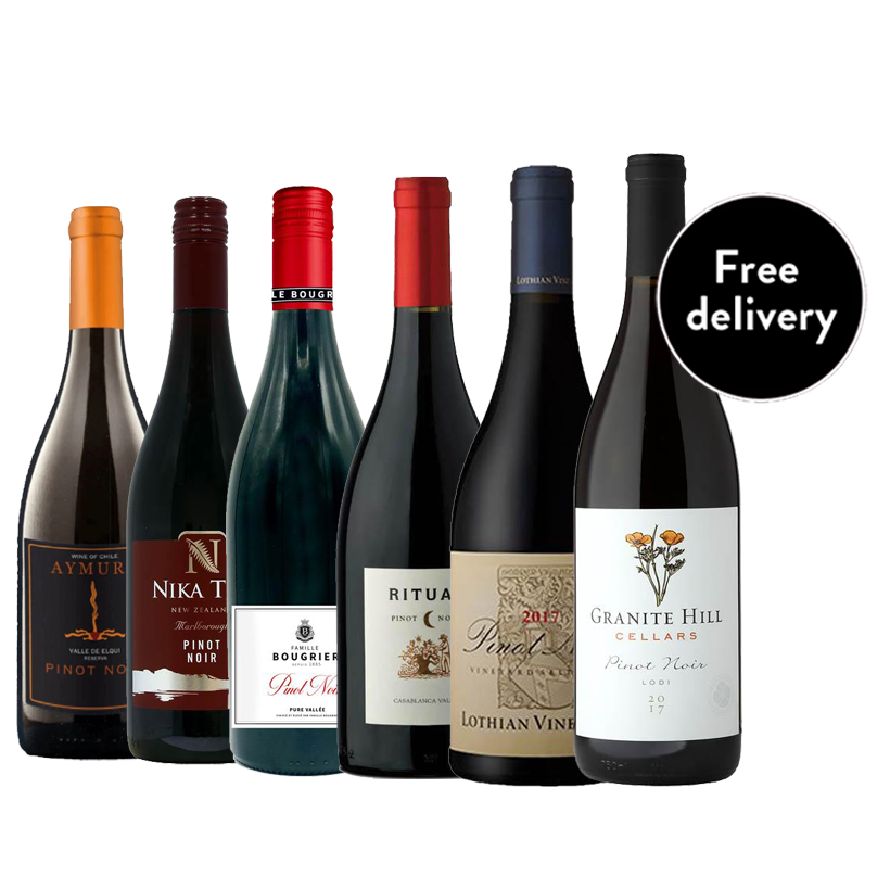 Pinot Noir Mixed Case of 6 Wines - Free UK Delivery