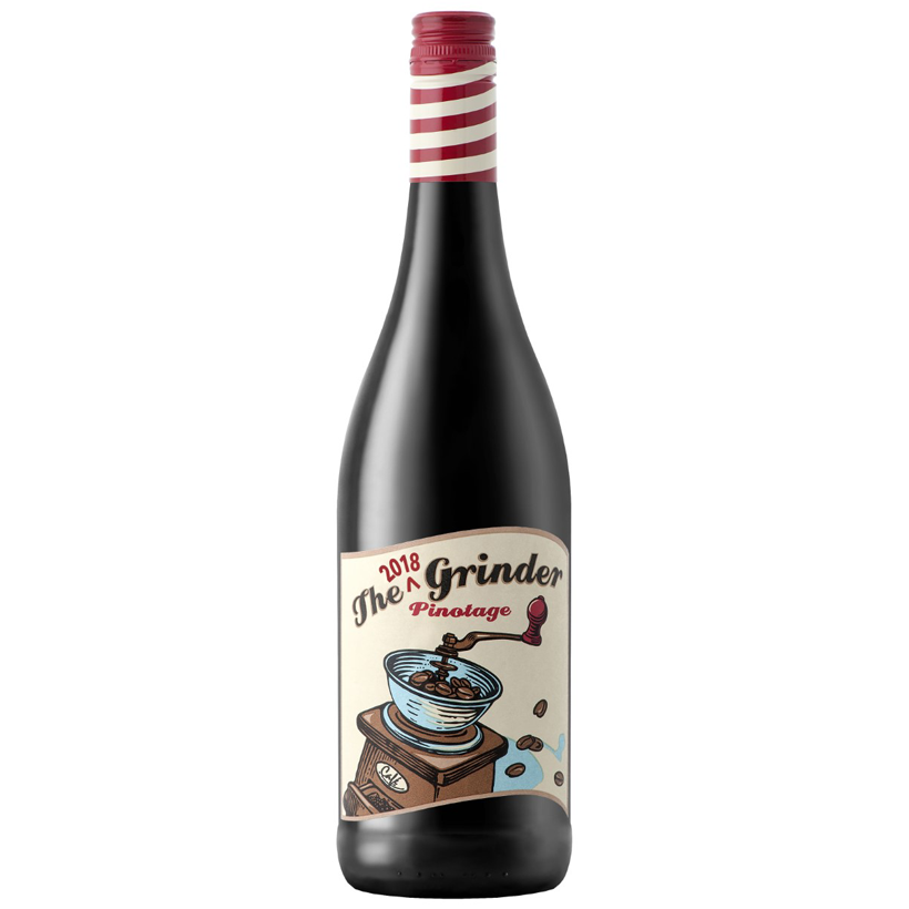 Red Wine The Grinder Pinotage 2018 South Africa