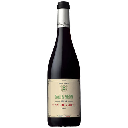 Nat & Sense Syrah, Natural French Wine