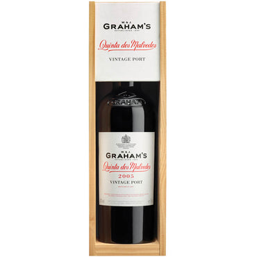 Graham's Quinta dos Malvedos Vintage Port 2005 in a box