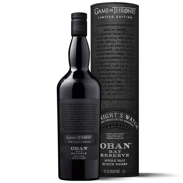 Oban Bay Reserve - Game of Thrones The Night's Watch whisky with box