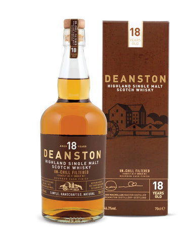 Deanston 18 Year Old Bourbon Finish Whisky with Box
