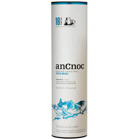 AnCnoc 16 Year Old - Highland Whisky in a tin