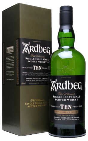 Ardbeg 10 Year Old Unchillfiltered with Box