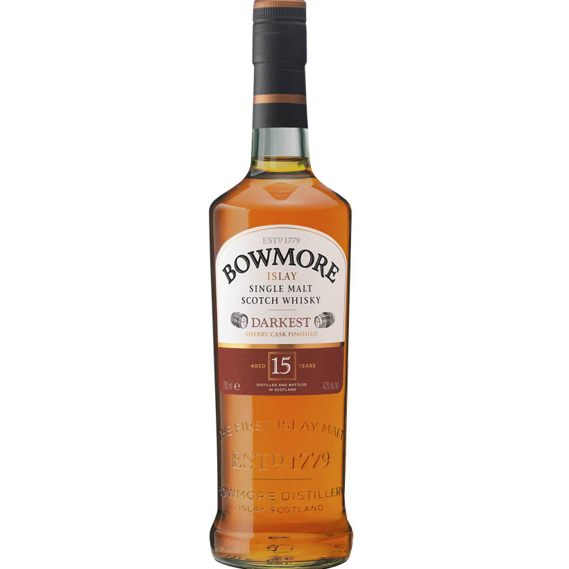 Bowmore Darkest 15 Year Old Islay Whisky Single Malt