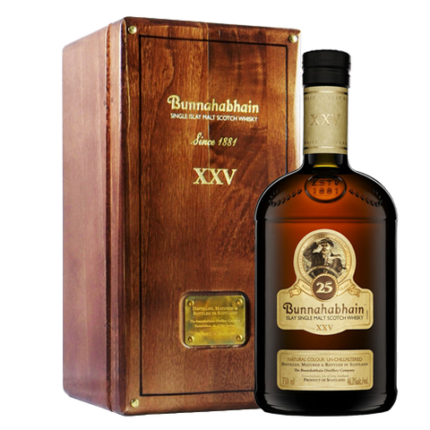 Bunnahabhain 25 Year Old Whisky with box