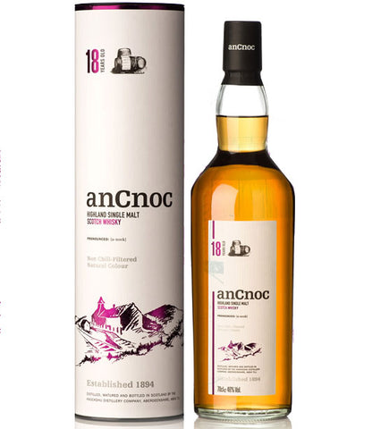 Ancnoc 18 Year Old Single Malt Whisky with Box