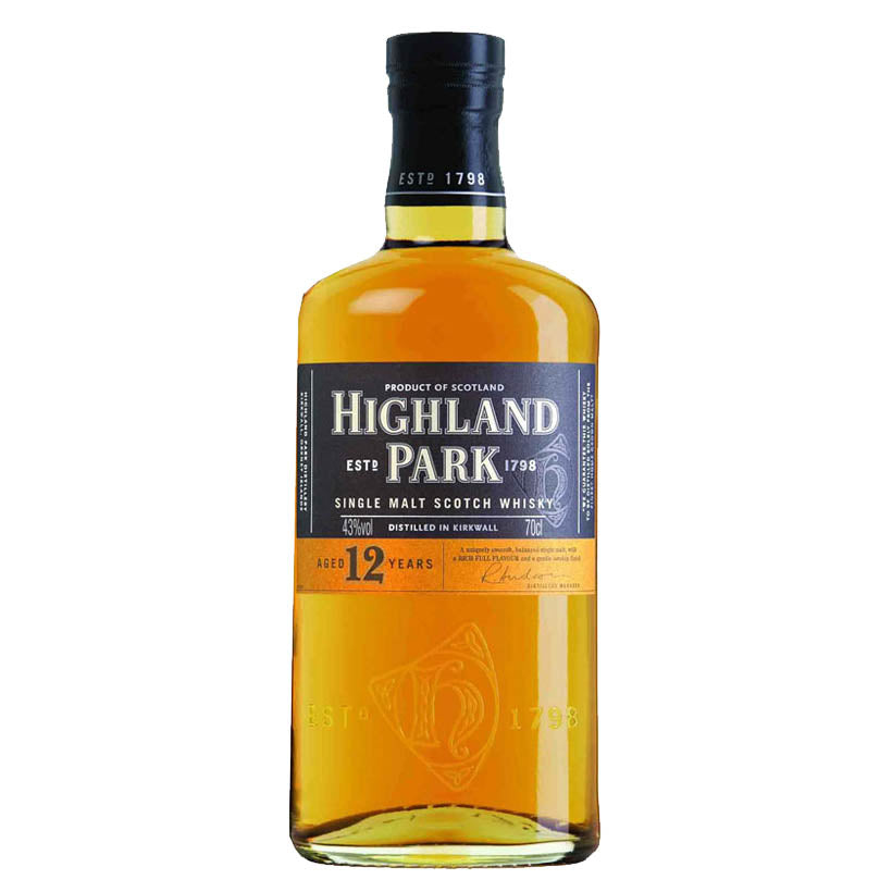 Highland Park 12 year old malt whisky