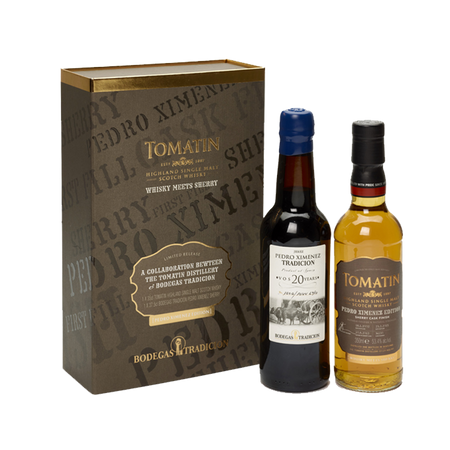 Tomatin Whisky Meets Sherry PX 2 bottle of 350ml gift set