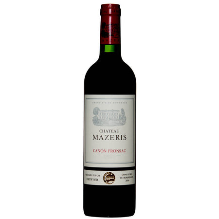 Red Wine Chateau Mazeris Canon Fronsac Bordeaux