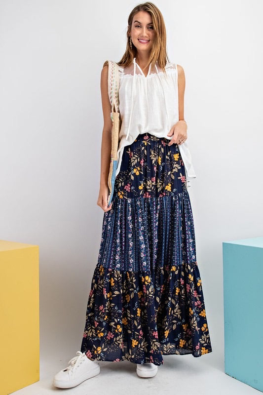Printed mix n match skirt