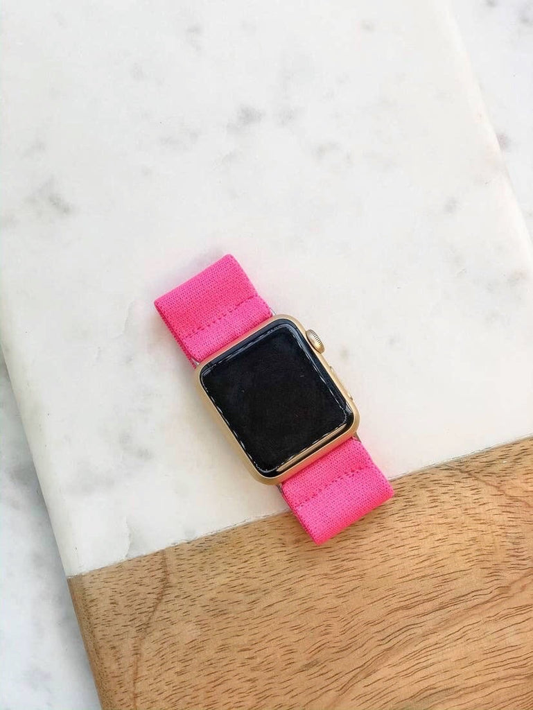 Pink Elastic Watch Band