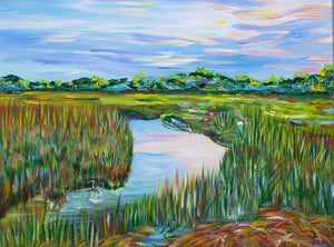 """Sunset on the marsh"""