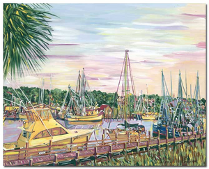 """Shem Creek. Sunset"""