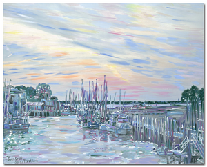 """Shem Creek. Twilight """